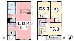[テラスハウス] 兵庫県姫路市南車崎2丁目 の賃貸【兵庫県 / 姫路市】の間取り