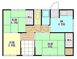 [一戸建] 岡山県岡山市東区可知2丁目 の賃貸【/】の間取り