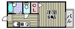 ピースフル[2階]の間取り