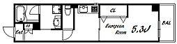 古湊第二リーフビル 7階1Kの間取り