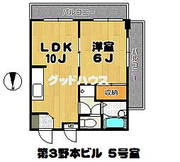 第3野本ビル[302号室]の間取り