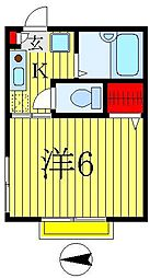 コンシスティールA&B[2階]の間取り