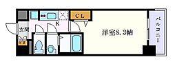 プレサンス大須観音ディオ 10階1Kの間取り