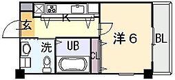 大阪府東大阪市西上小阪の賃貸マンションの間取り