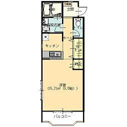 リバティーハウス今福[203号室]の間取り