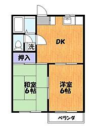 東京都足立区佐野1丁目の賃貸アパートの間取り