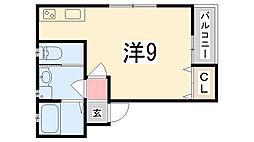 アルクレア加古川[202号室]の間取り