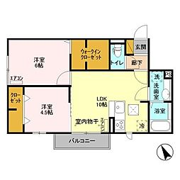 (仮)D-room柏たなかPJB12[303号室]の間取り