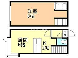 コスモ澄川 1階1LDKの間取り