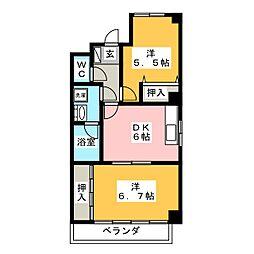 エステート棚瀬[3階]の間取り