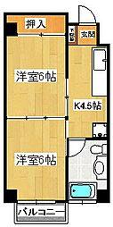 第二山本ビル[206号室]の間取り