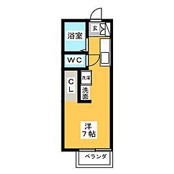 ベル神山[1階]の間取り