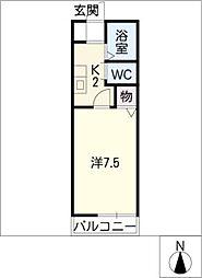 エコースウィート恵[1階]の間取り