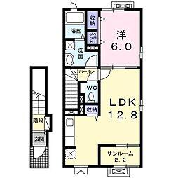 クラッキスB[2階]の間取り