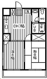 第三嶋村マンション[3階]の間取り