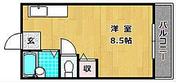 大阪府枚方市招提平野町の賃貸マンションの間取り