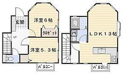 [テラスハウス] 神奈川県鎌倉市二階堂 の賃貸【/】の間取り