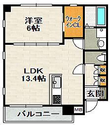 グリーンコートARAMAKI[306号室]の間取り