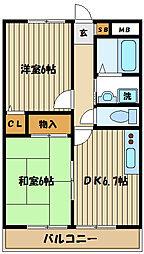 パセオ本宿[2階]の間取り