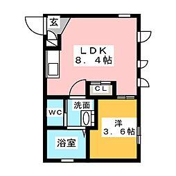 Ceres岩塚駅前 B[4階]の間取り