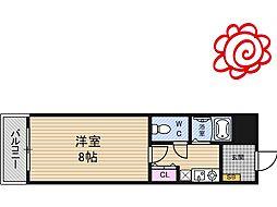 JR片町線(学研都市線) 徳庵駅 徒歩4分の賃貸マンション 3階1Kの間取り