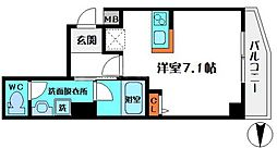 HR・FRONT・REGAL新森 5階ワンルームの間取り