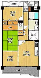 KDXレジデンス夙川ヒルズ 3番館[6階]の間取り