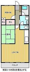 愛知県名古屋市千種区池上町2の賃貸マンションの間取り