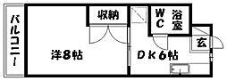 サードアベニュー佐鳴台II[203号室]の間取り