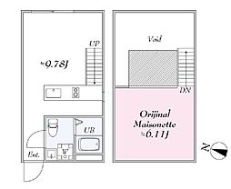 JR山手線 日暮里駅 徒歩5分の賃貸マンション 4階1LDKの間取り