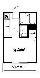 エスポワール昭和[201号室]の間取り