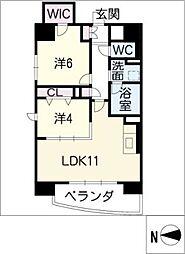 サンエスケーイワタ名城[2階]の間取り