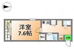 プレサンス西心斎橋[10階]の間取り