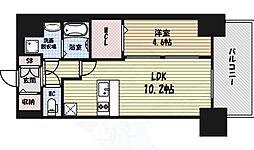プレサンス錦通THE葵 4階1LDKの間取り
