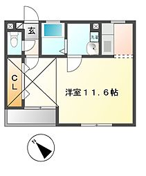 レジデンス小花[3階]の間取り