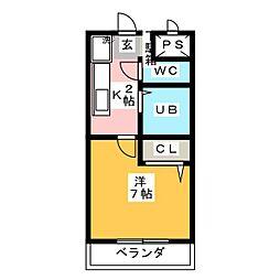 ヒサゴハイツI[3階]の間取り