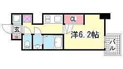 ララプレイス三宮ルミナージュ[10階]の間取り