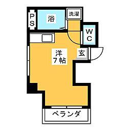オラシオン人宿II[6階]の間取り