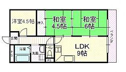 UTOPIA KASHIWARA(ユートピア柏原)[503号室号室]の間取り