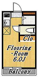 フローラ6[2階]の間取り
