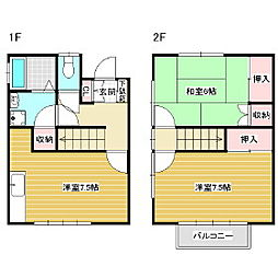 [テラスハウス] 長野県松本市野溝西2丁目 の賃貸【/】の間取り