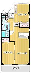 オオシマハイツベル[301号室]の間取り