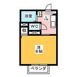 エバグリーン黒笹[2階]の間取り