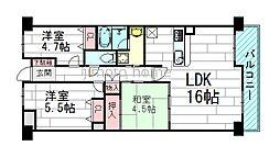 ハイコート桃山台[2階]の間取り
