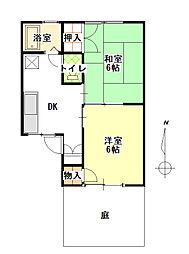 愛知県小牧市郷中1丁目の賃貸アパートの間取り