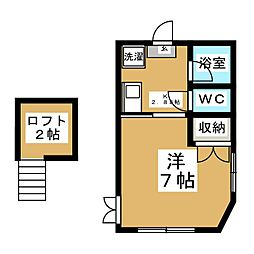 コスモランド八乙女[1階]の間取り