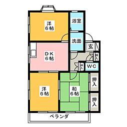 TOWNサンロイヤル G号棟[2階]の間取り