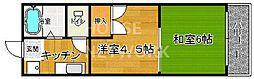 Requie紫竹[401号室号室]の間取り