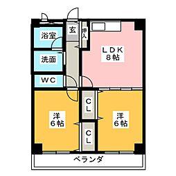 佐藤マンション[6階]の間取り