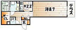Polonia Kokura-kita[1階]の間取り